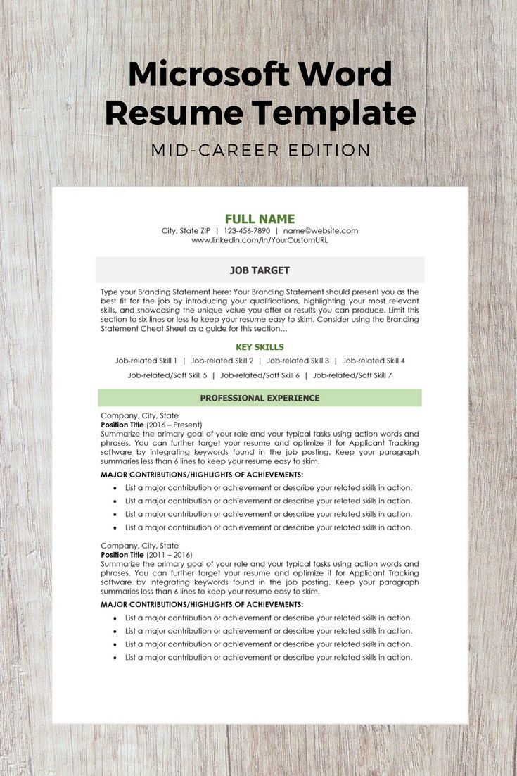 modern resume template mid career edition tips for managers