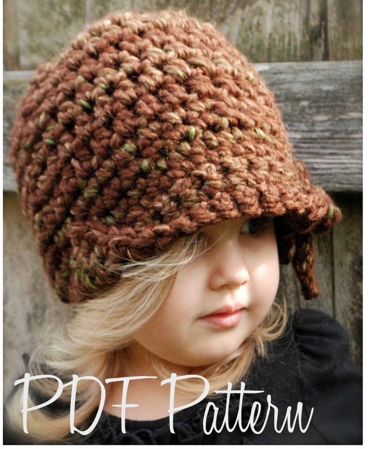 Crochet PATTERN-The Mylie Cloche' (Toddler, Child, and Adult sizes) also can be Made to Order. $5.50, via Etsy.