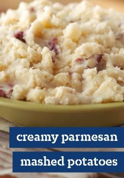 Creamy Parmesan Mashed Potatoes | Recipe | Parmesan Mashed Potatoes ...