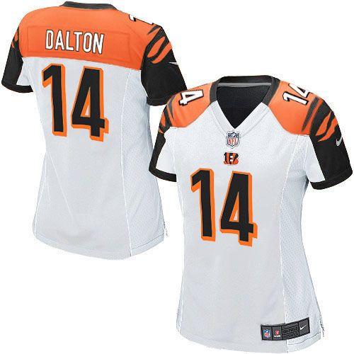 Nike NFL Elite Womens  Cincinnati Bengals White #14 Andy Dalton  Jersey$109.99