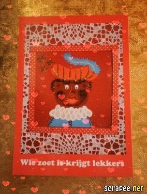 ~Prentenkaart Piet n.a.v. mijn schilderij~