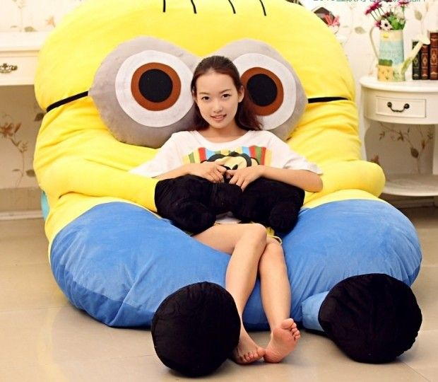 Giant Minions Sleeping Bed