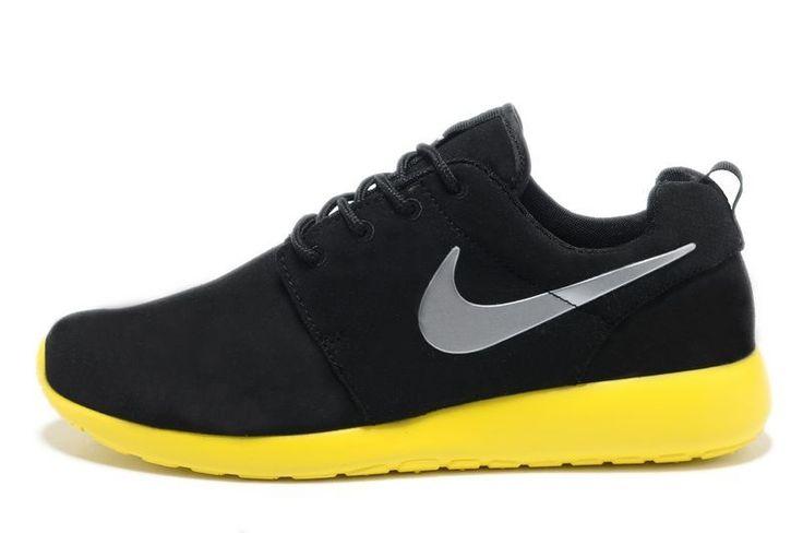 Nike su??de sneakers zwart grijs Citrien Roshe Run Online 511881-003