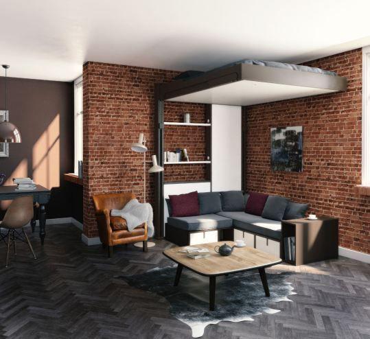 Les 25 meilleures id es de la cat gorie lit escamotable plafond sur pinterest - Espace loggia occasion ...
