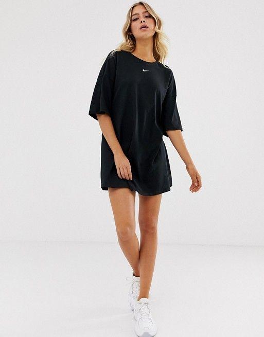 59ff758d1ea Nike Black Mini Swoosh T-Shirt Dress in 2019