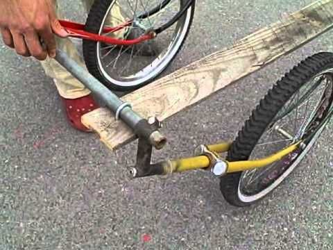 Recycled Bike Trailer with Bike Forks