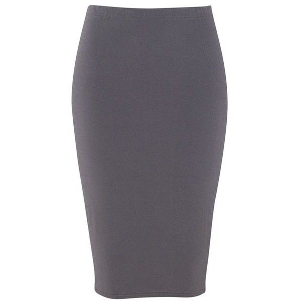 Francine Pencil Skirt in Grey found on Polyvore