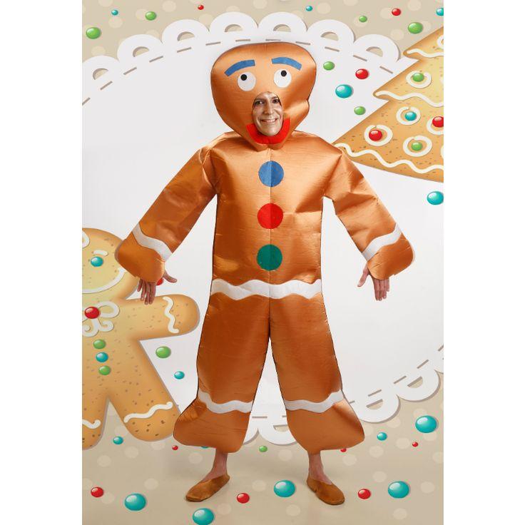 Disfraz de Hombre Jengibre #disfracesnavidad #disfracesnavideños
