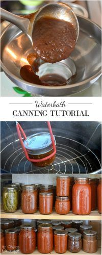 """Step-by-step water bath canning tutorial with pictures, easy-to-follow-instructions, video, and safety advice. """"Put up"""" your produce to…"""