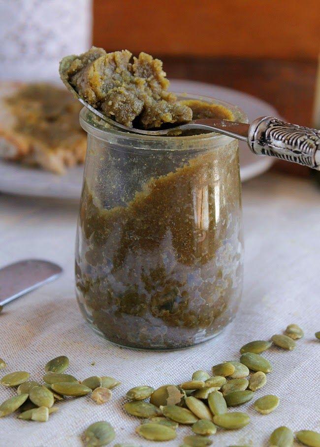 Nem acredito que é saudável!: Pasta de sementes de abóbora .Pumpkin seed butter