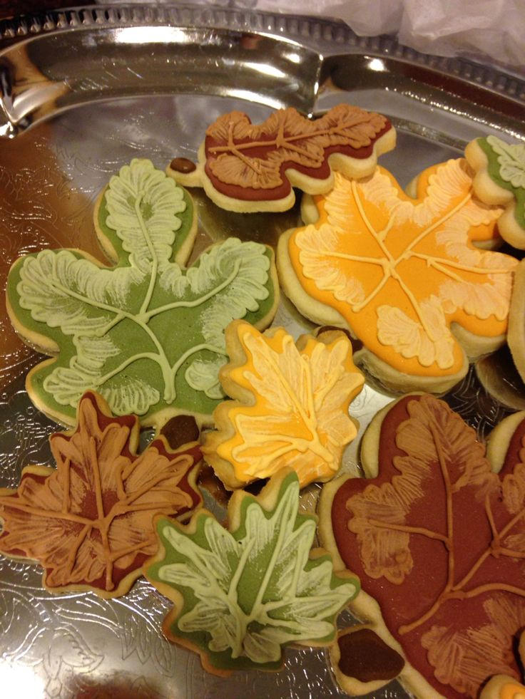 Autumn cookies for a friend's wedding.