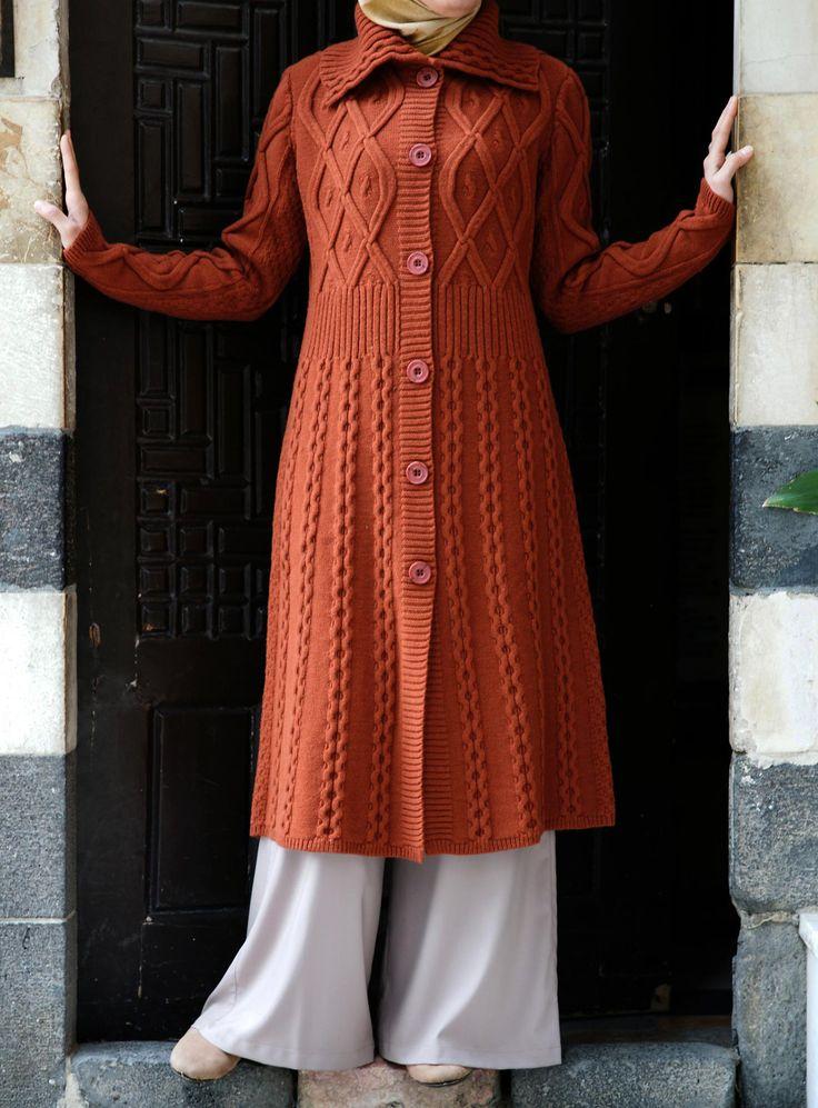 Long Aran knit cardigan, perfectly cozy