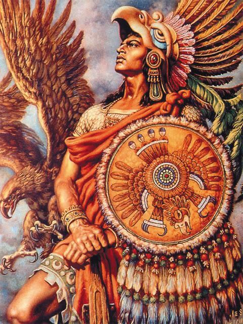 Aztec Eagle Warrior with shield