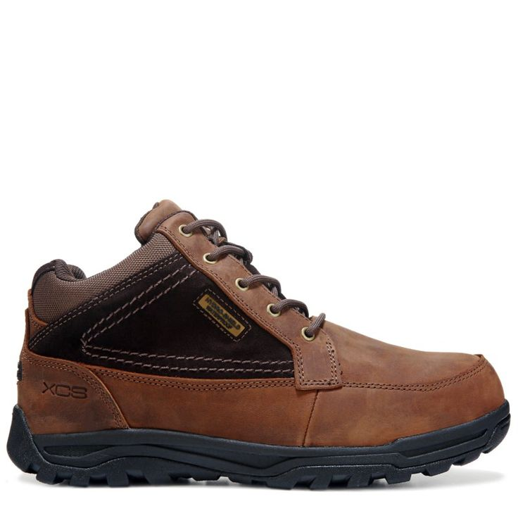 Rockport Works Men's Trail Technique Mid Top Medium/Wide Steel Toe Boots (Brown Leather)