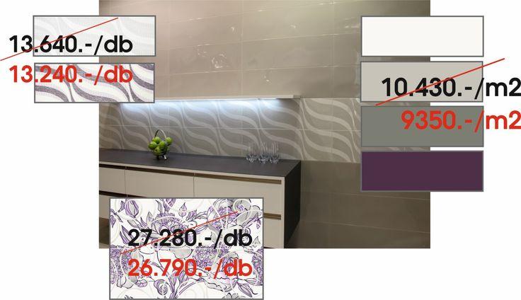 GRESPANIA(Spanyol) - DANUBIO:  Danubio blanco,perla,gris,amatista 30x90 cm csempe - Eno 2db.os szett 30x90 cm dekor - Drava blanco,amatista 30x90 cm dekor
