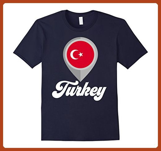Mens Turkey T-shirt Turkiye Flag Tee I Love Turkey Travel Tee XL Navy - Cities countries flags shirts (*Partner-Link)