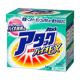 KAO Концентрированный стиральный био-порошок Attack Bio EX без фосфатов 1кг…