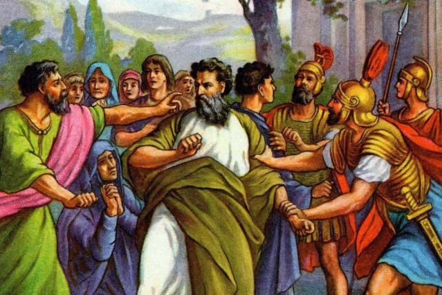 Get to Know the Apostle Paul, Once Saul of Tarsus: Illustration of Paul's Arrest