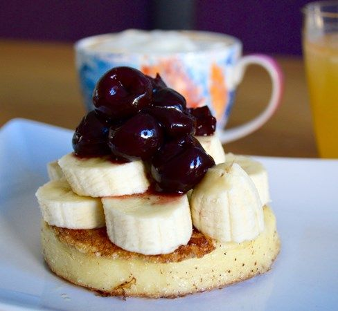 Gluten and Dairy Free Banana & Berry French Toast Crumpets