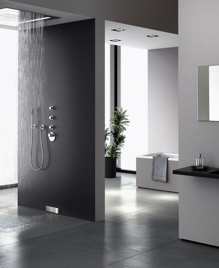 Hightech im Badezimmer mit Geberit Wandablauf fuer Duschen