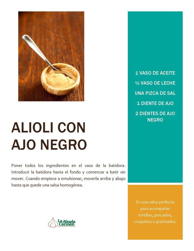 ¿Te atreves con una #receta de alioli de #AjoNegro? ¡Fácil y rápida! #LasRecetasDeLaAbuela #cocinando #foodie