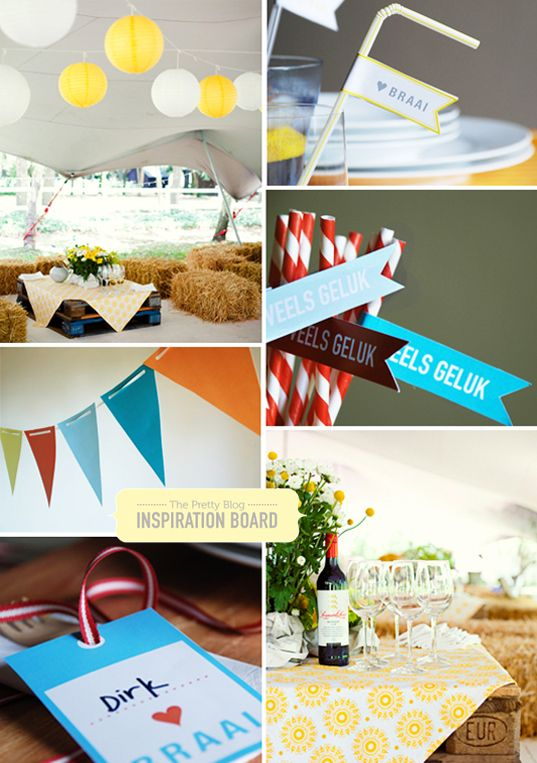 Inspiration board proudly SA Party Theme {Proudly South African}