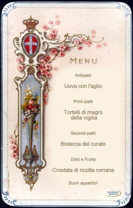 My Historic Menu   The Italian Food Academy   Academia Barilla
