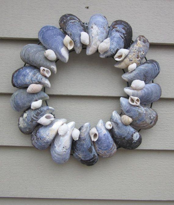 Maine  Sea Shell wreath via Etsy