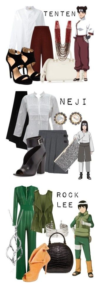 """Team Guy from Naruto"" by laniocracy on Polyvore featuring Hache, Proenza Schouler, Yves Saint Laurent, Nakamol Design, Marc by Marc Jacobs, Jimmy Choo, Laurence Dacade, Balmain, Eloqueen and H&M"