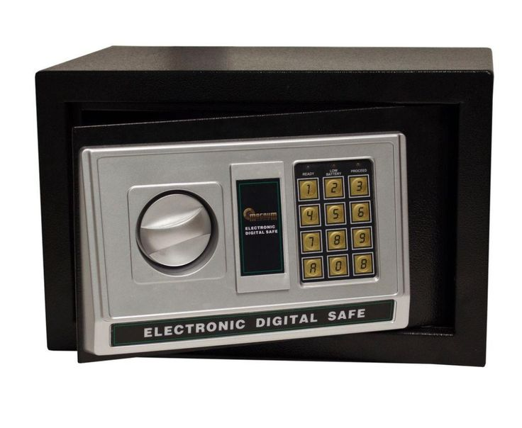 Personal Electronic Security Safe Home Locking Key Fire Steel Storing Valuables  #Magnum
