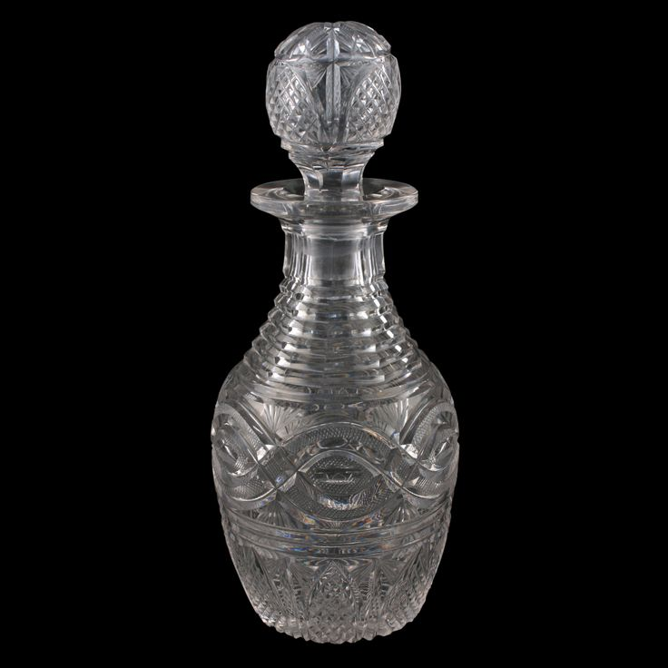Regency Heavy Cut Glass Decanter