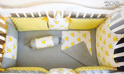 """Для новорожденных, ручной работы. Ярмарка Мастеров - ручная работа. Купить Бортики в кроватку """"Королевский"""". Handmade. Желтый, бортики подушки"""