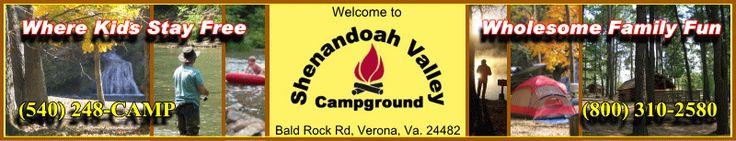 "Shenandoah Valley Campground Bald Rock Rd, Verona, VA 24482 ""Shaded Back-ins along The River"" Hot Tubs, Electric, Water & Sewer $44 opens 3/30(Good Sams)"