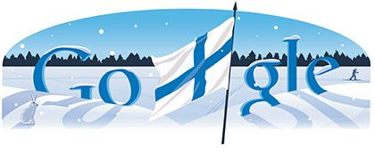 Thanks, Google, remembering Finland's Independence Day. Nice doodle.