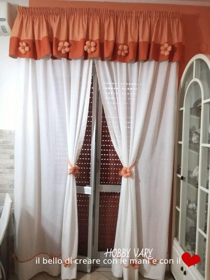 Tende con mantovana e fiori di stoffa | TENDE | Fiori di stoffa ...