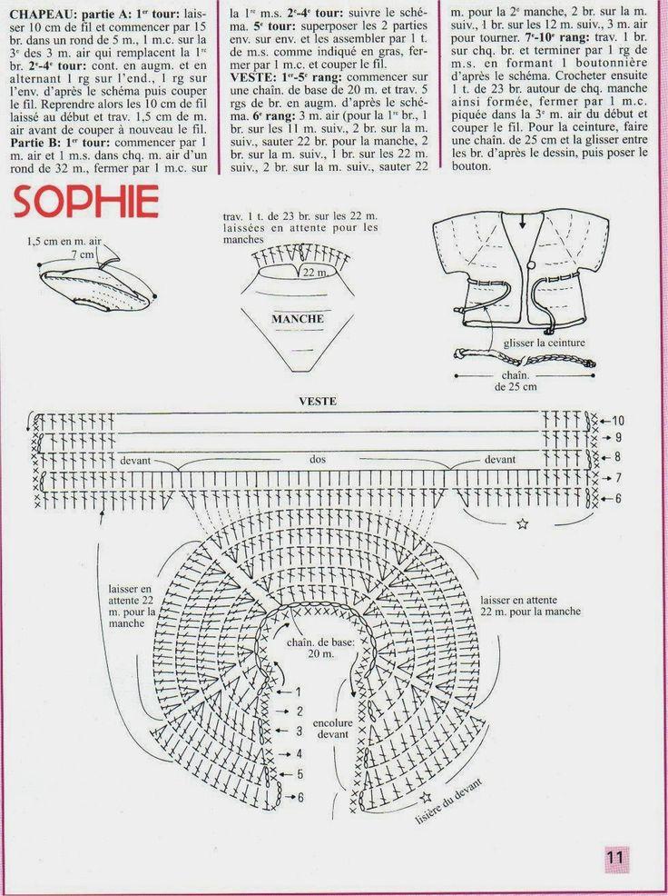 Roupa de Crochê Para Barbie Com Gráfico - Sophie - 1000 Mailles Robes de Poupée