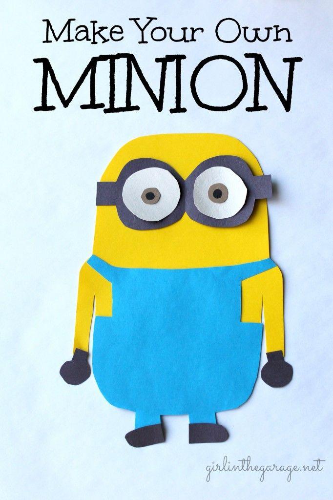 Make your own Minion - a kids craft.   girlinthegarage.net