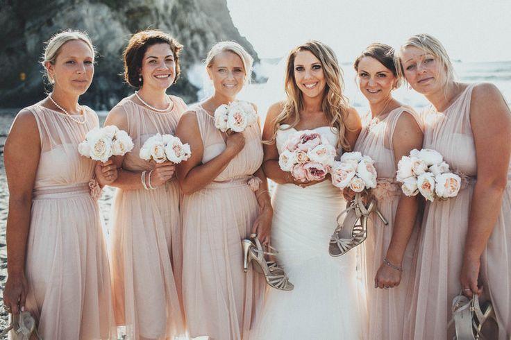 Short Bridesmaid Dresses Casual Beach Dusky Pink Wedding http://www.alipaul.com/