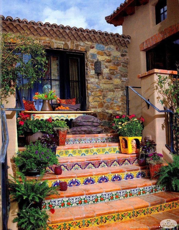 Mexican Style Gardens | Um estilo rústico chique com suas casas grandes que abrigaram as ...