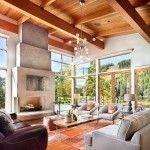 hölzerne Innenarchitektur in Montana Resort #by_Hunter Interior Design