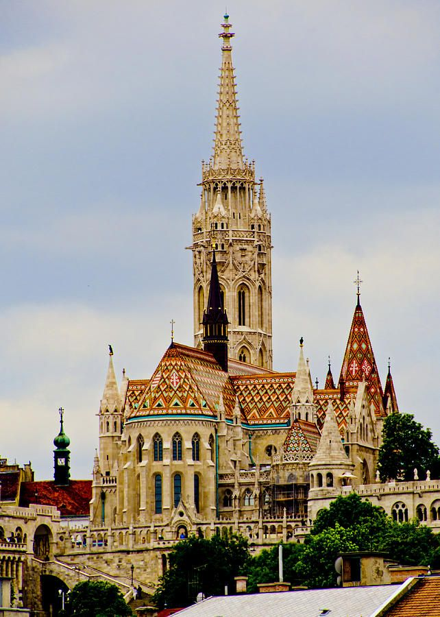 Matthias Church Photograph - Matthias Church - Budapest by Jon Berghoff