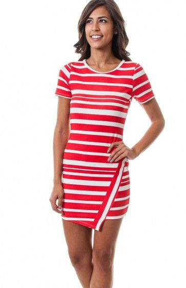 Round neck short sleeve stripe textured bodycon dress featuring asymmetrical hem. Pair this outfit with a jean jacket for a casual day. TAGS # , #wholesale dresses #fashion wholesale dress , #mini dress, #party dress, #Solid Print, #USA Made Wholesale, #Boutique #Boutique Wholesale, #Wholesale Trends, #Sexy, #Mod #Vintage 94% POLYESTER, 6% SPANDEX. HAND WASH COLD WATER. MACHINE WASH GENTLE. DO NOT BLEACH. MADE IN USA. $12.75