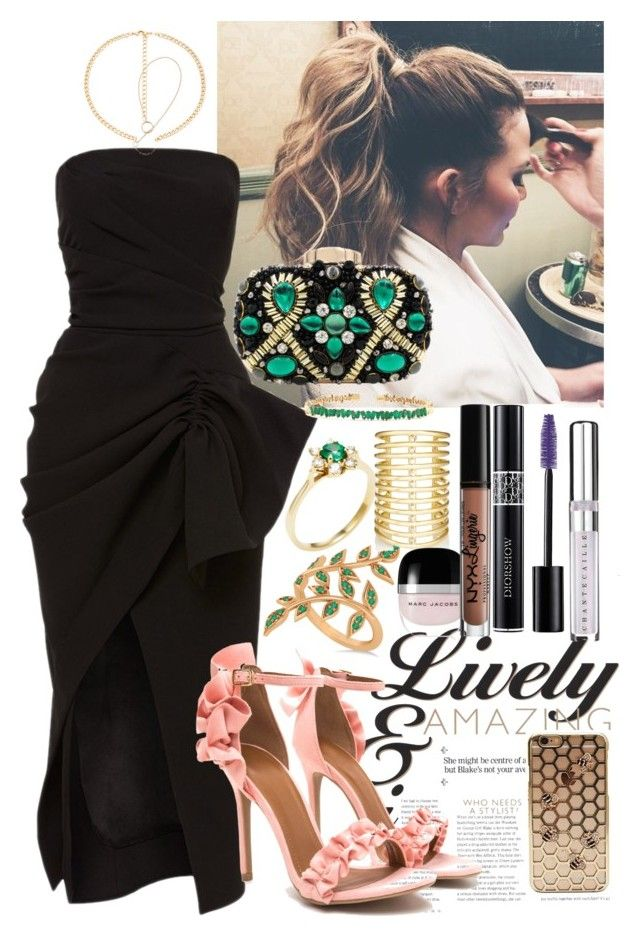 """""""Las Vegas nevada Pelea Canelo"""" by staydiva on Polyvore featuring moda, Maticevski, Allurez, Tiffany & Co., Jules Smith, 8 Other Reasons, Marc Jacobs, NYX, Christian Dior y Chantecaille"""