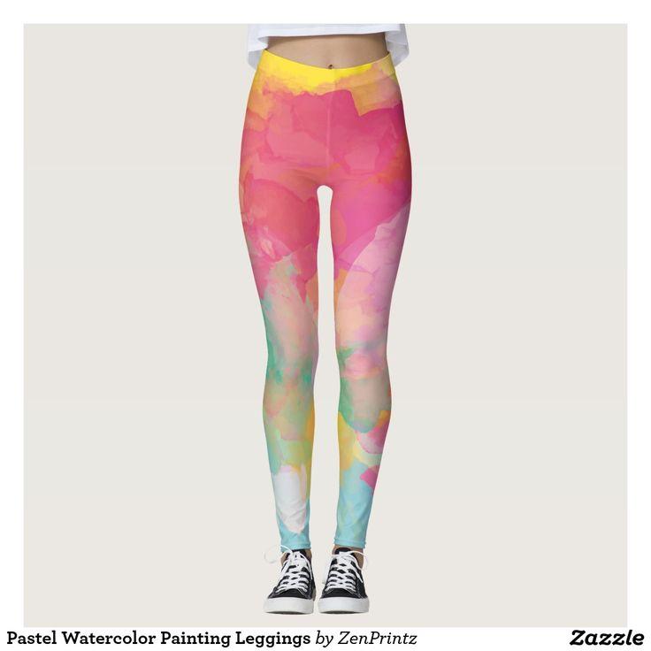 Pastel Watercolor Painting Leggings