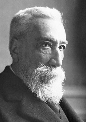"""Nobel de Literatura en 1921: Anatole France (Francia). Otorgado """"en reconocimiento a sus brillantes logros literarios, caracterizados por una nobleza de estilo, una profunda simpatía humana y un verdadero temperamento galo""""."""
