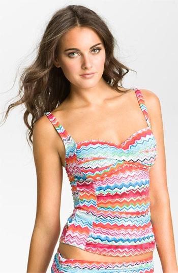 La Blanca 'Shore Line' Tankini Top available at NordstromRainbows Design, Swimming Tops, Tankini Tops, Swimsuits Fashion, White, Fashion Piece, Swimming Suits, Bath Suits, Blanca Shore