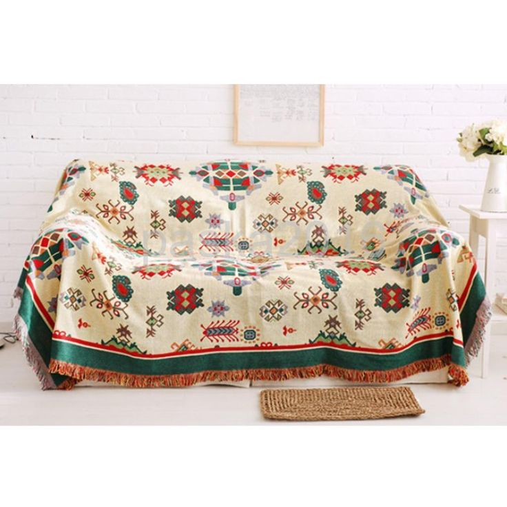 Cotton Sofa Bed Settee Throw Cover,130X180Cm Jacquard Bedspread Rug- Bohemia