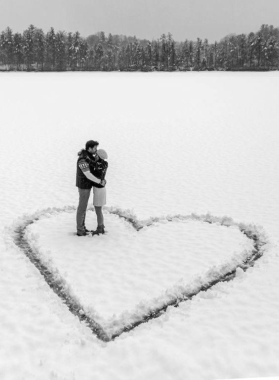 Pärchen Foto Winter schnee