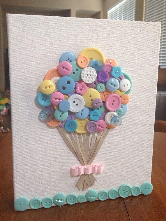 Nursery button wall art pastel colors 8x 10  by EmerysMemories, $20.00