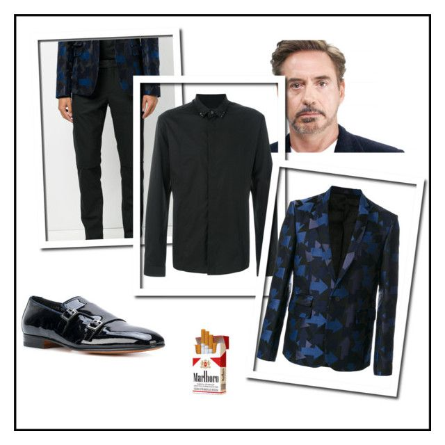 """""""Senza titolo #27"""" by popcorninthedark ❤ liked on Polyvore featuring Santoni, Les Hommes, men's fashion and menswear"""